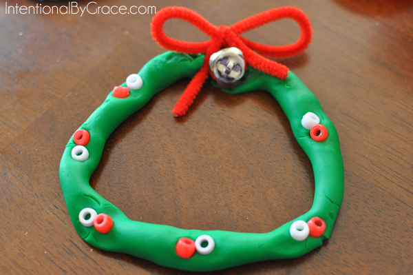 wreath playdough