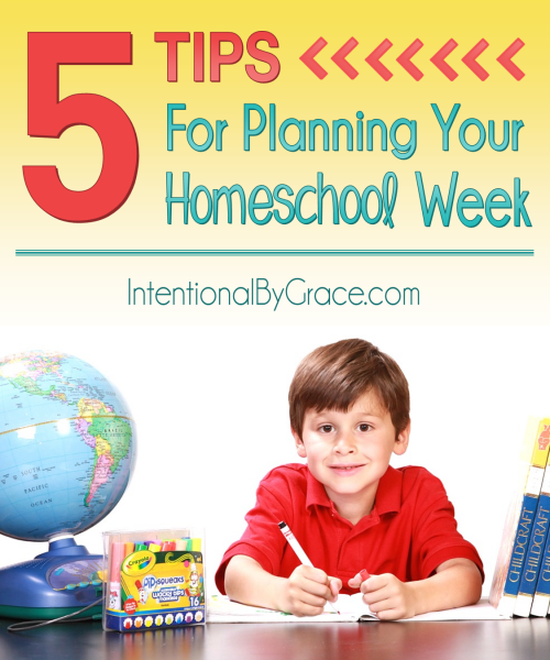 5 Tips for Planning Your Homeschool Week - Intentional By Grace