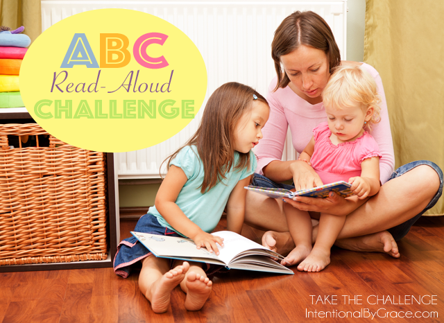 Join the free ABC read-aloud challenge! Read one book a day to your child for 26 days! Plus get lots of ideas for books to read aloud for each letter of the alphabet!