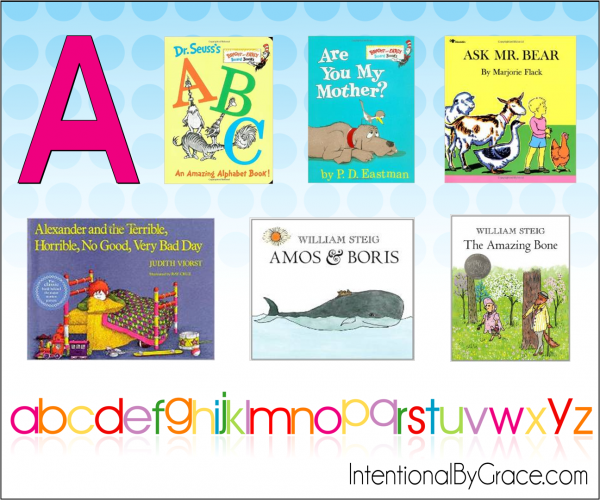 Childrens Books From A to Z (A) - Intentional By Grace