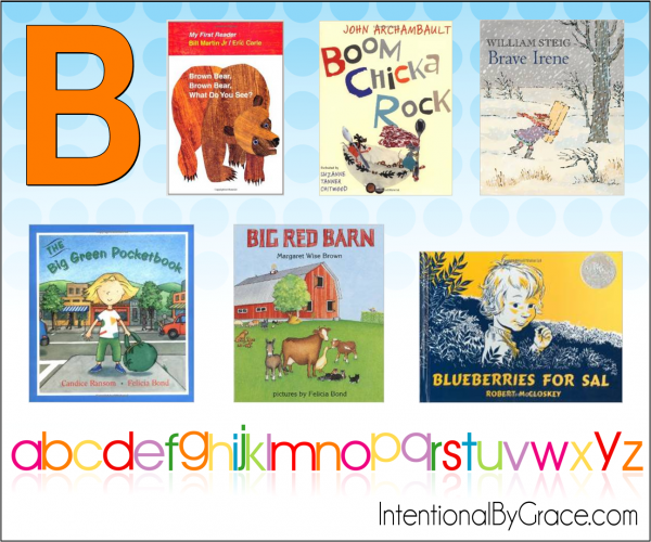 Childrens Books From A to Z (B) - Intentional By Grace