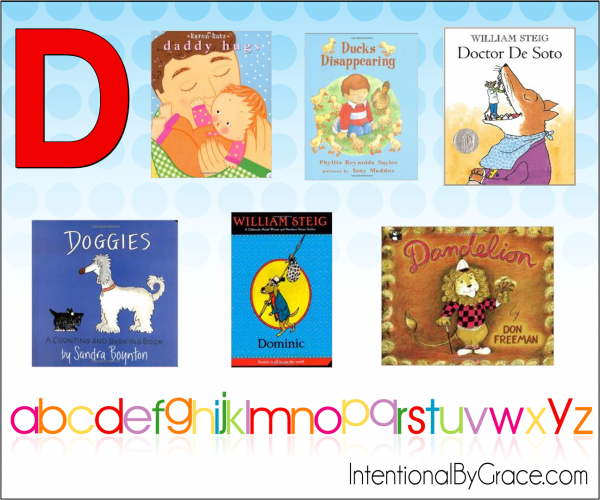 Childrens Books From A to Z (D) - Intentional By Grace