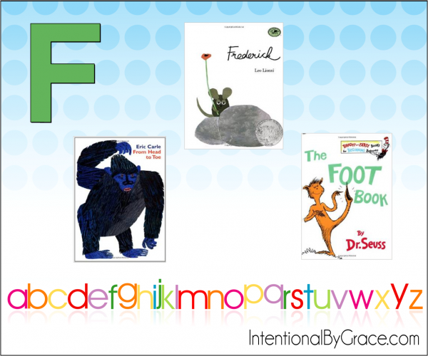 Childrens Books From A to Z (F) - Intentional By Grace