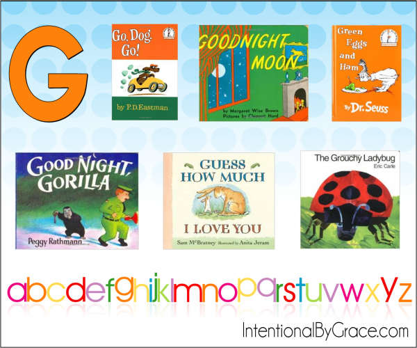 Childrens Books From A to Z (G) - Intentional By Grace