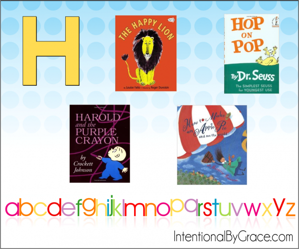 Childrens Books From A to Z (H) - Intentional By Grace