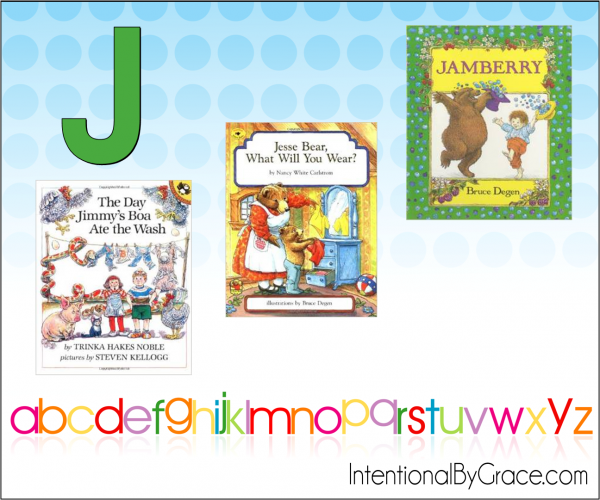 Childrens Books From A to Z (J) - Intentional By Grace
