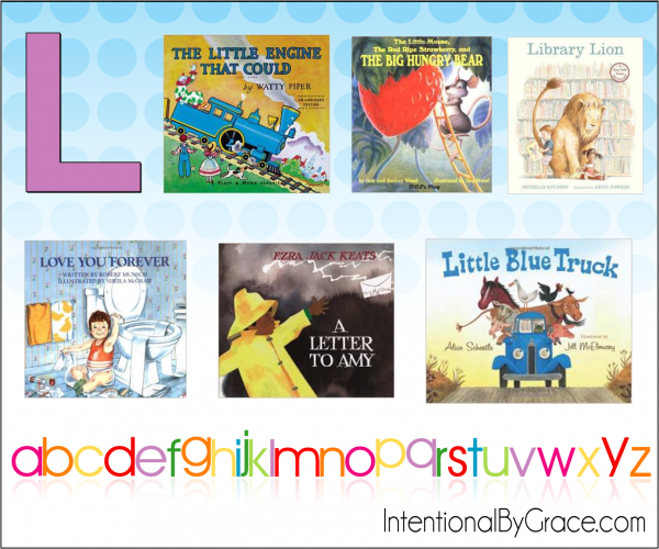 Childrens Books From A to Z (L) - Intentional By Grace