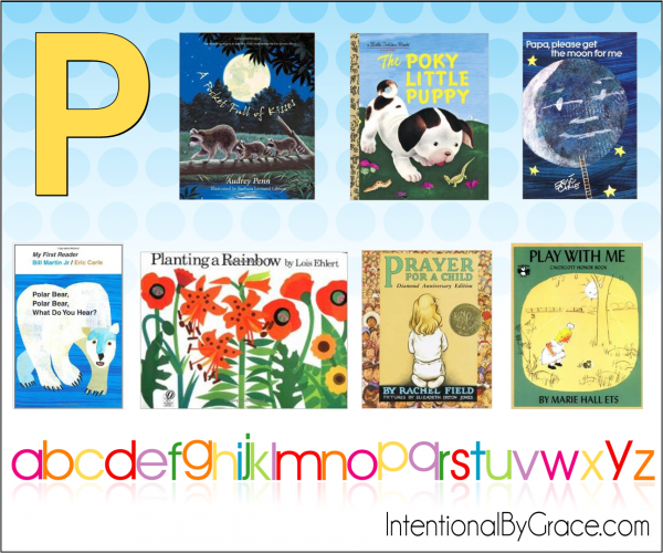 Childrens Books From A to Z (P) - Intentional By Grace