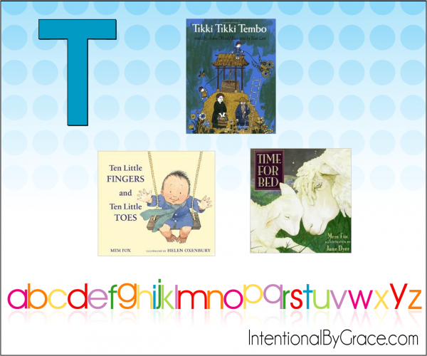 Childrens Books From A to Z (T) - Intentional By Grace