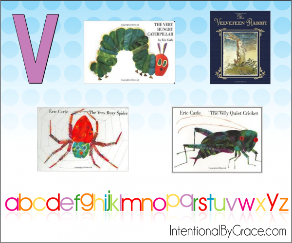 Childrens Books From A to Z (V) - Intentional By Grace