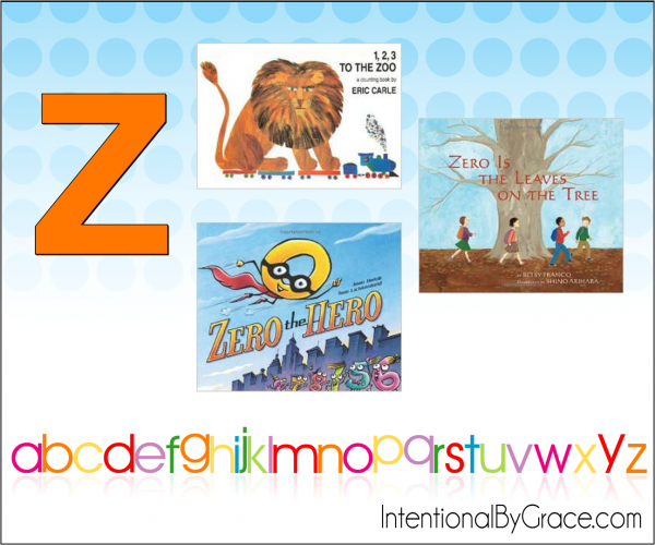 Childrens Books From A to Z (Z) - Intentional By Grace