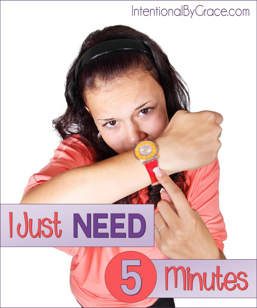 I Just Need Five Minutes - Intentional By Grace