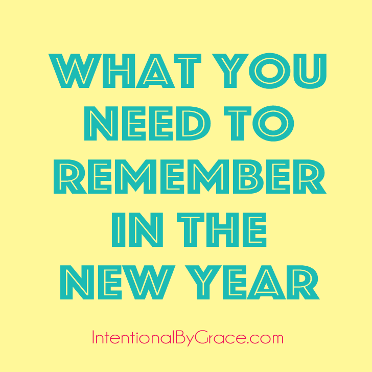 What you need to remember in the new year.