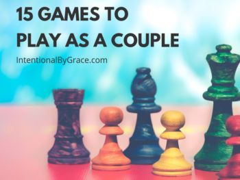 A list of seven games to play as a couple. These are great board games or card games for a date night in! - IntentionalByGrace.com
