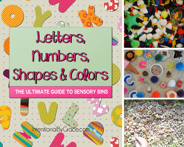 Letters, Numbers, Shapes and Colors (The Ultimate Guide to Sensory Bins) - Intentional By Grace