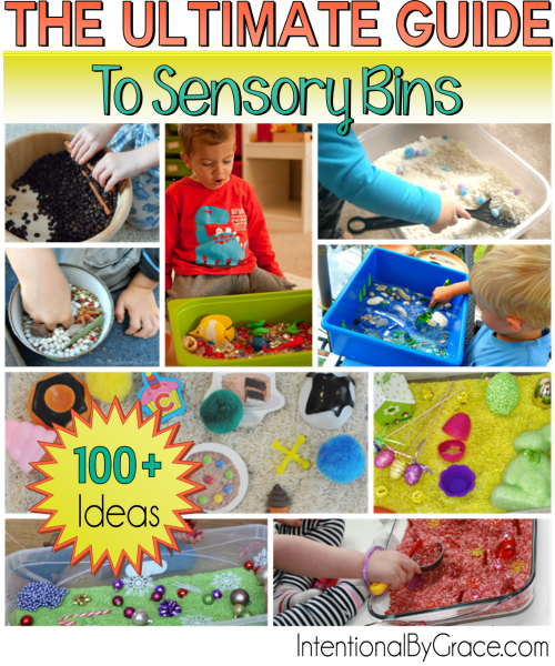 The Ultimate Guide to Sensory Bins {100+ ideas to get you started!}