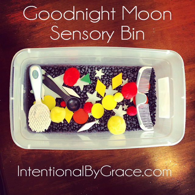goodnight moon sensory bin