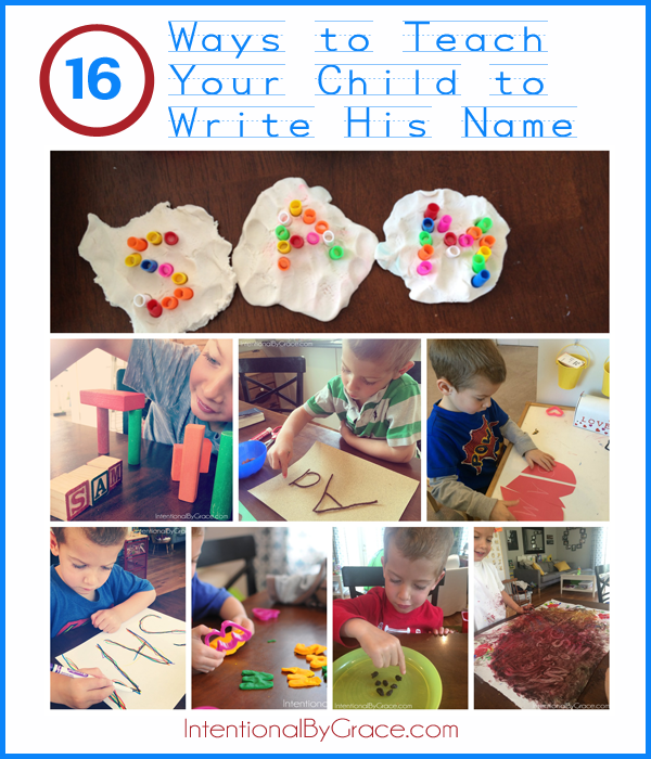 16 Ways to Help Your Child Learn to Write His Name