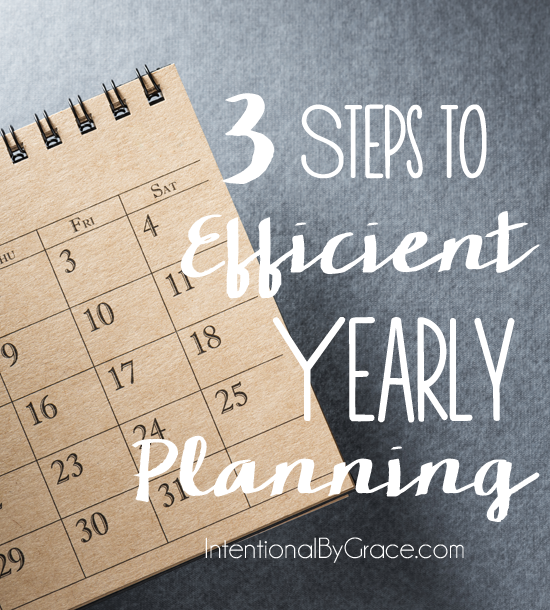 3 steps to efficient yearly planning!