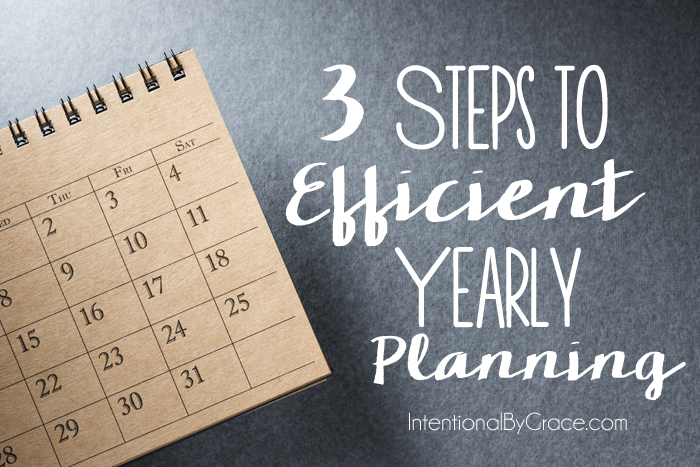 3 steps to efficient yearly planning
