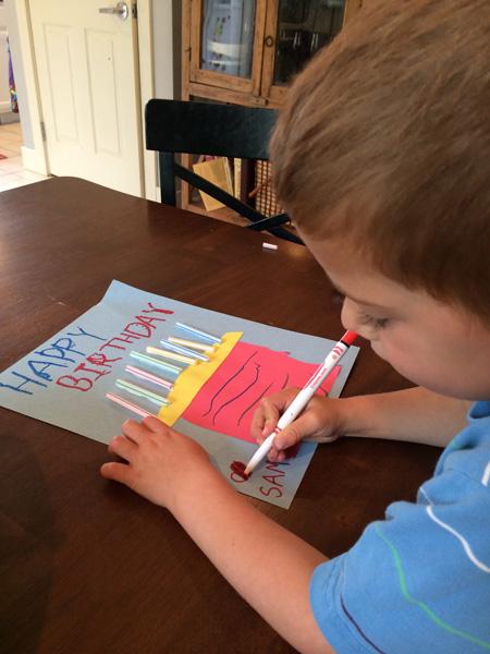 happy birthday card writing