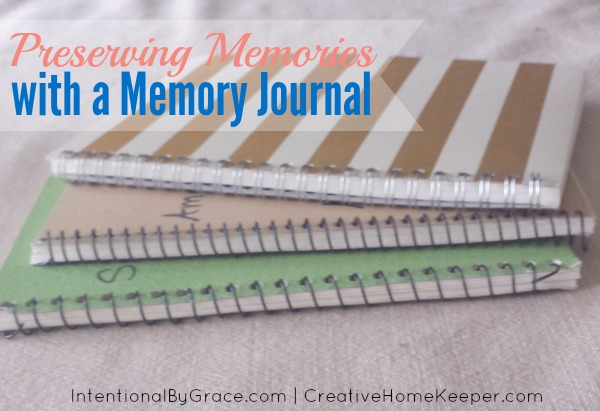 Preserving memories with a memory journal
