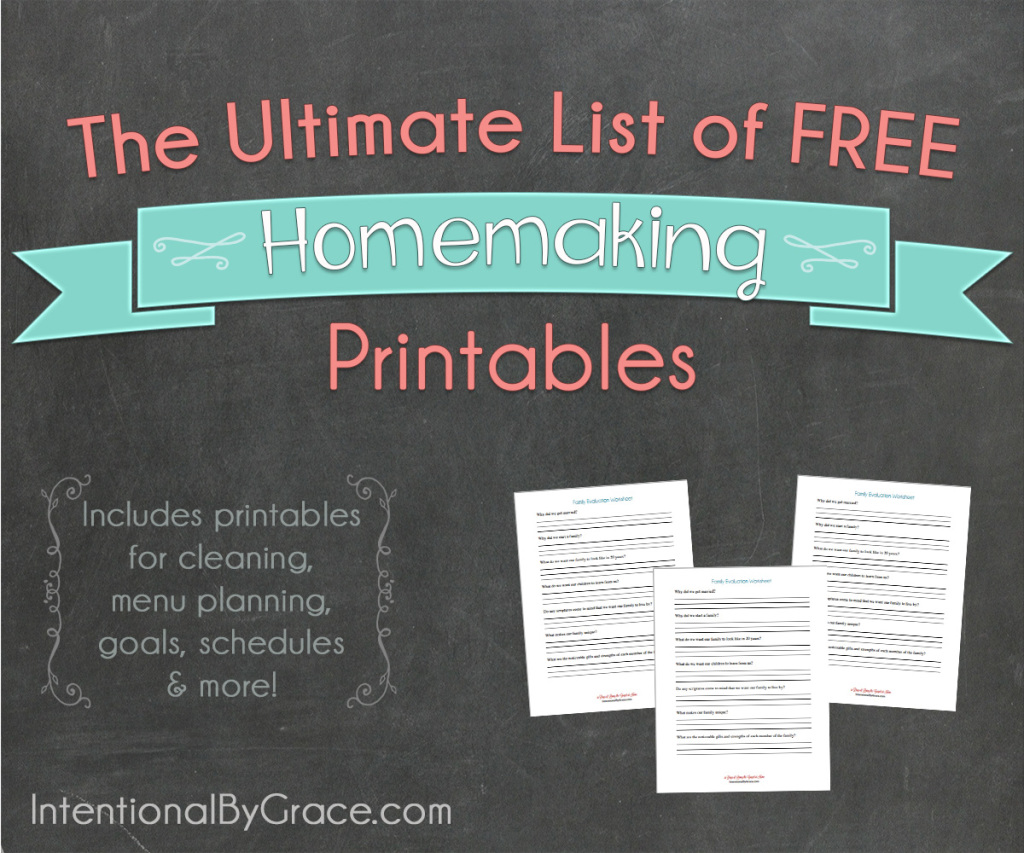 The Ultimate List of FREE Homemaking Printables (vertical) - Intentional By Grace