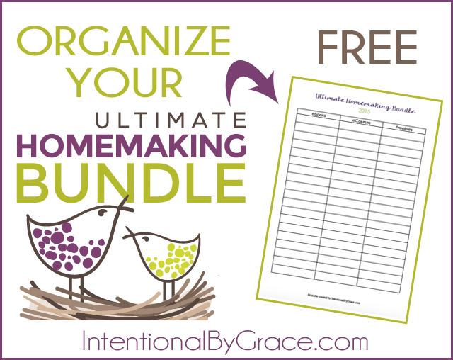 Organize your Ultimate Homemaking Bundle with this FREE printable!