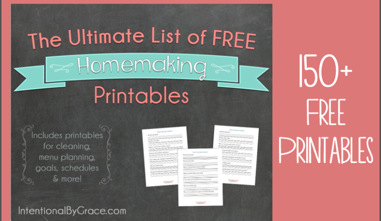The Ultimate List of Free Homemaking Printables
