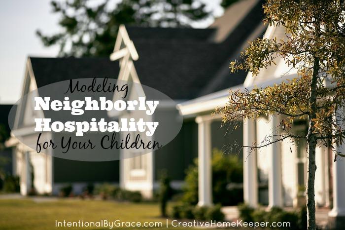 Modeling Neighborly Hospitality for Your Children
