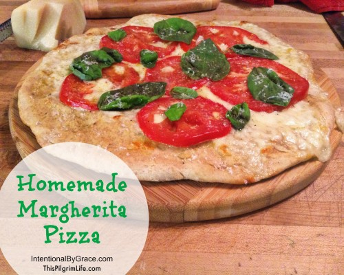 Recipe for Homemade Margherita Pizza with Summer Tomatoes