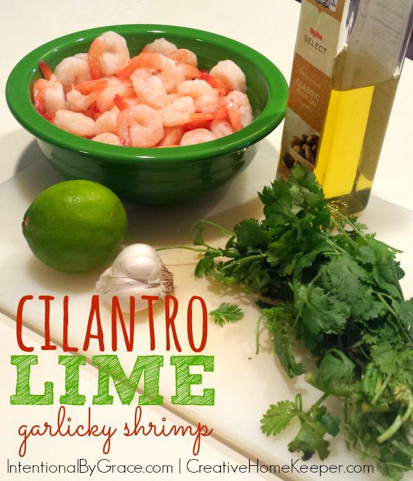 cilantro lime garlicky shrimp