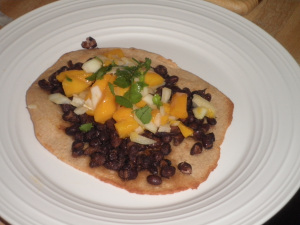 Recipe: Black Bean and Mango Tostada - Intentional By Grace