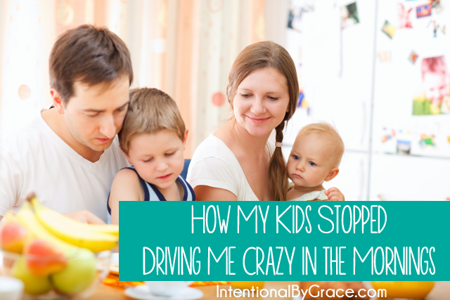 how i got my kids to stop driving me crazy. A morning routine that actually works for us!