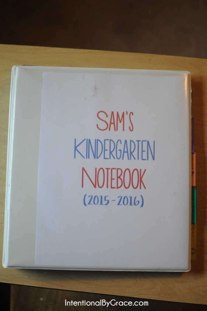 kindergarten notebook