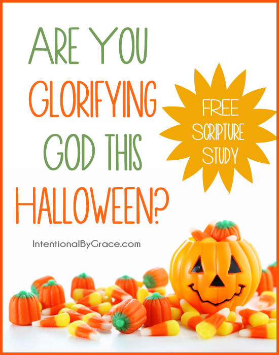 Are you glorifying God this Halloween? Be sure to download this FREE scripture study.