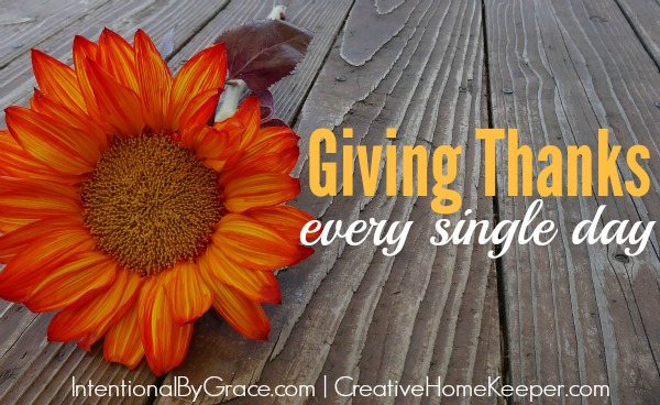 Giving Thanks Every Day