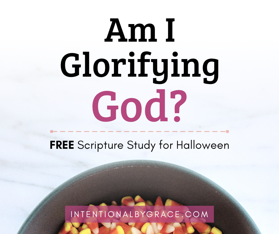 Are you glorifying God this Halloween? What does the bible say about Halloween? This scripture study will help you do just that. | IntentionalByGrace.com