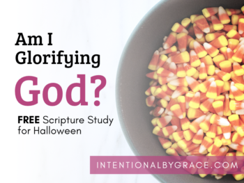 We must take care to communicate carefully, thoughtfully, and prayerfully our convictions on Halloween. This scripture study will help you do just that. | IntentionalByGrace.com