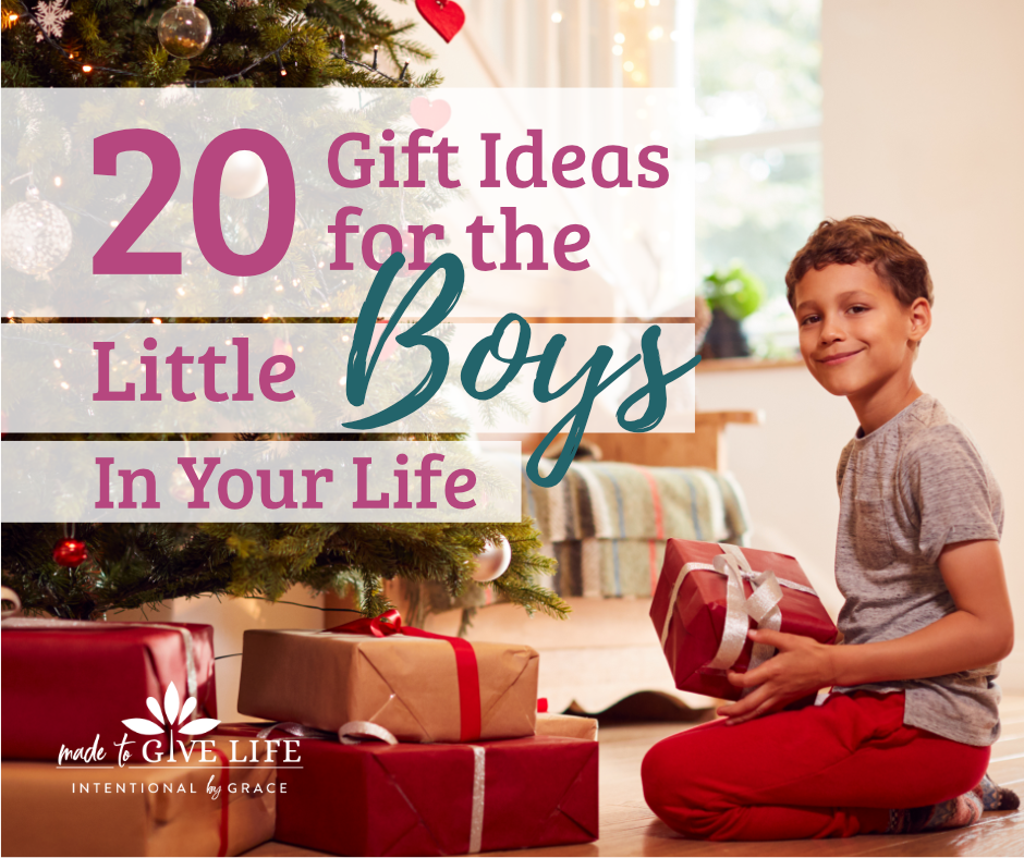 20 gift ideas for the little boys in your life. Checkout these meaningful learning toys and toys that don't make noise. | IntentinalByGrace.com