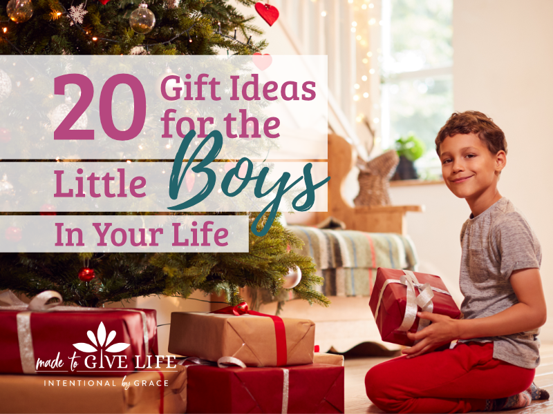 20 gift ideas for the little boys in your life. Checkout these meaningful learning toys and toys that don't make noise. | IntentionalByGrace.com