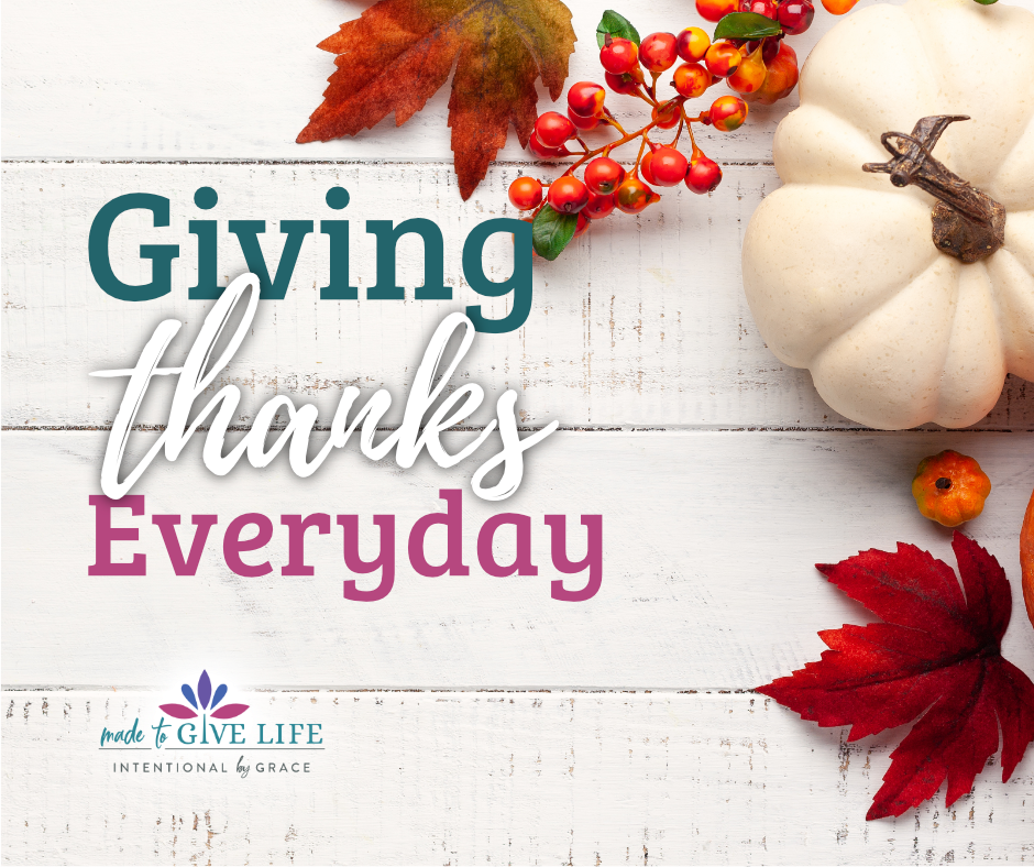 Choosing to be thankful every day in the mix of dirty dishes and laundry changes us. We can choose an attitude of gratitude and walk with Jesus. | IntentionalByGrace.com