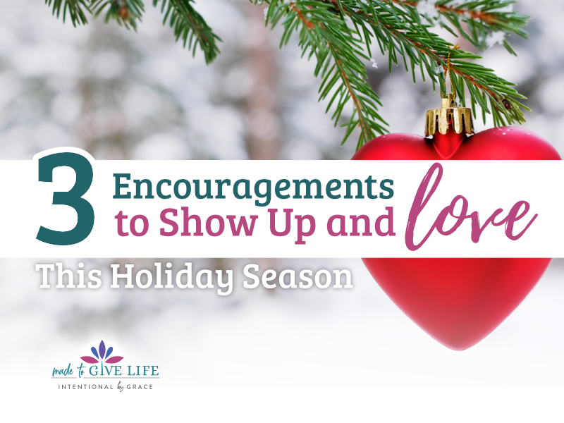 Spending time with family who do life differently is hard. But don't run away from hard family relationships. Show up and love this holiday season. | IntentionalByGrace.com