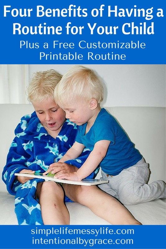 How can having a routine for your child benefit you? Check this out, plus a FREE printable routine for preschoolers!
