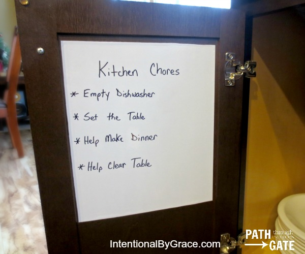 A Ridiculously Easy Chore System That Really Works!|Tired of complicated chore charts? Try this simple approach instead!| IntentionalByGrace.com