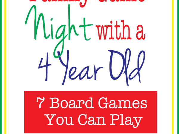 7 Games to Play with a Four Year Old