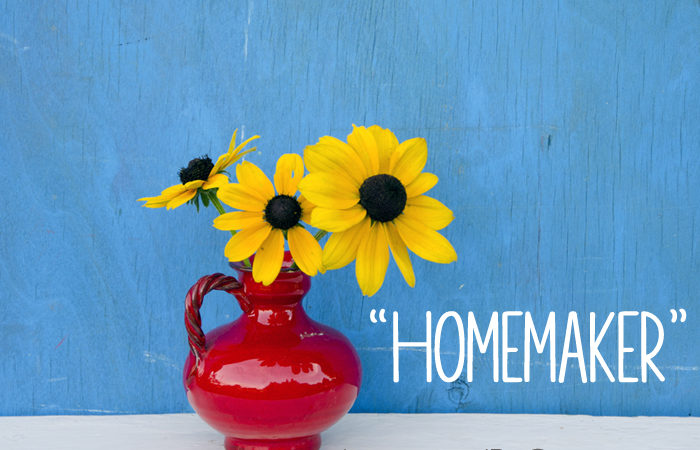 """Homemaker"" is a Term that Bugs Me"