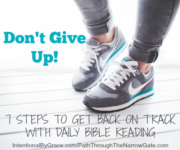 Don't Give Up! 7 Steps to Get Back on Track with Daily Bible Reading