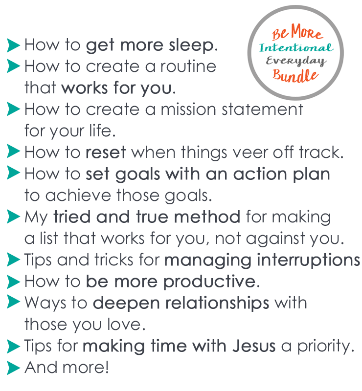 Be More Intentional Everyday Bundle