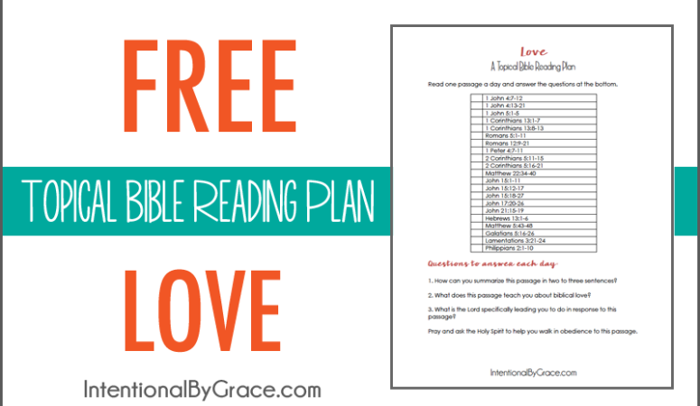 Free Topical Bible Reading Plan on Love